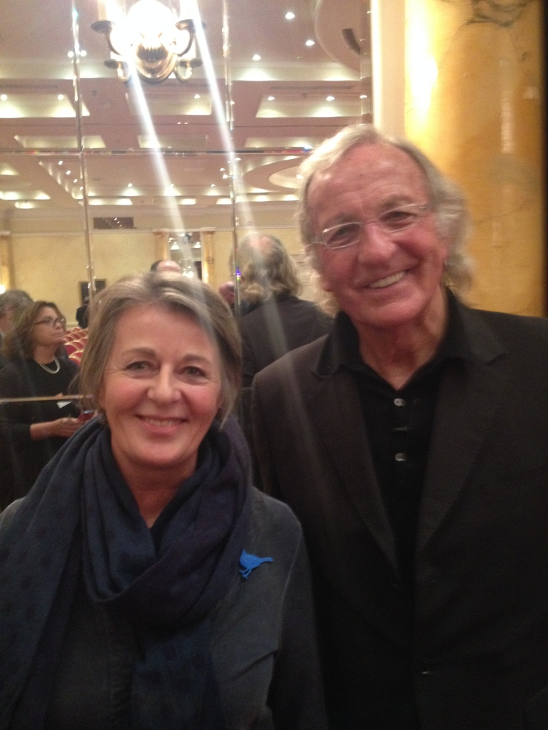 Jan Alexander with John Pilger