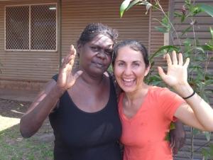 Dianne Biritjalawuy and Kama Trudgen, - not having a white Christmas, Arnham Land 2014